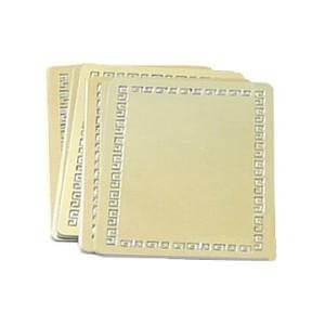 Металлические визитки - золото