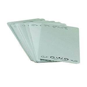 Металлические визитки - серебро