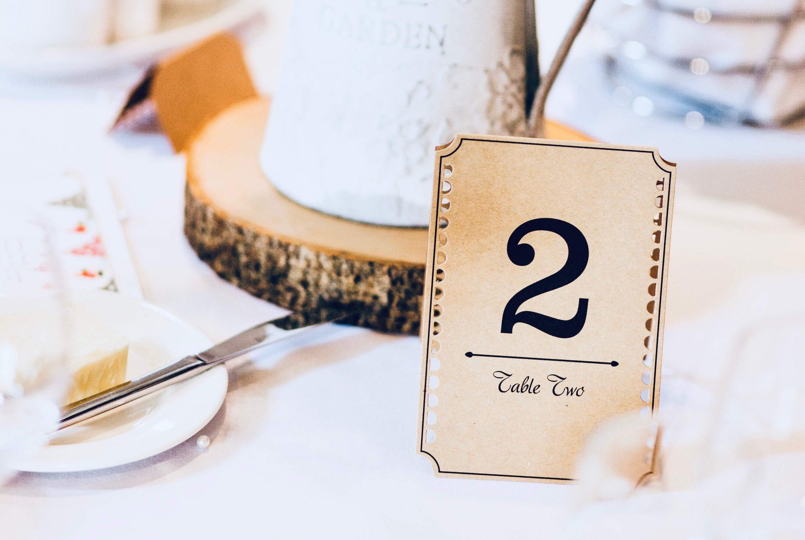 таблички с номерами столов на свадьбу