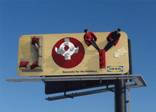 Необычная вывеска IKEA