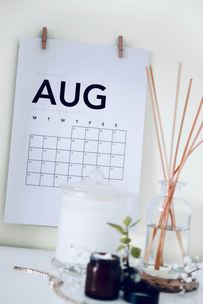 календарь на рабочем месте