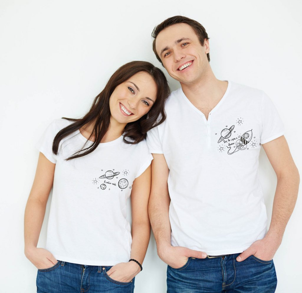 Парные футболки на день святого валентина или другой праздник