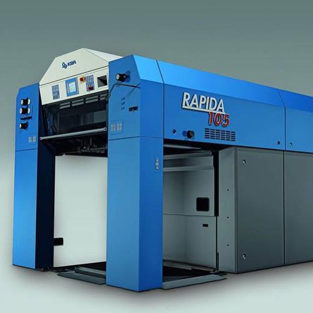 В Китае продемонстрировали новый офсетный принтер Rapida 105